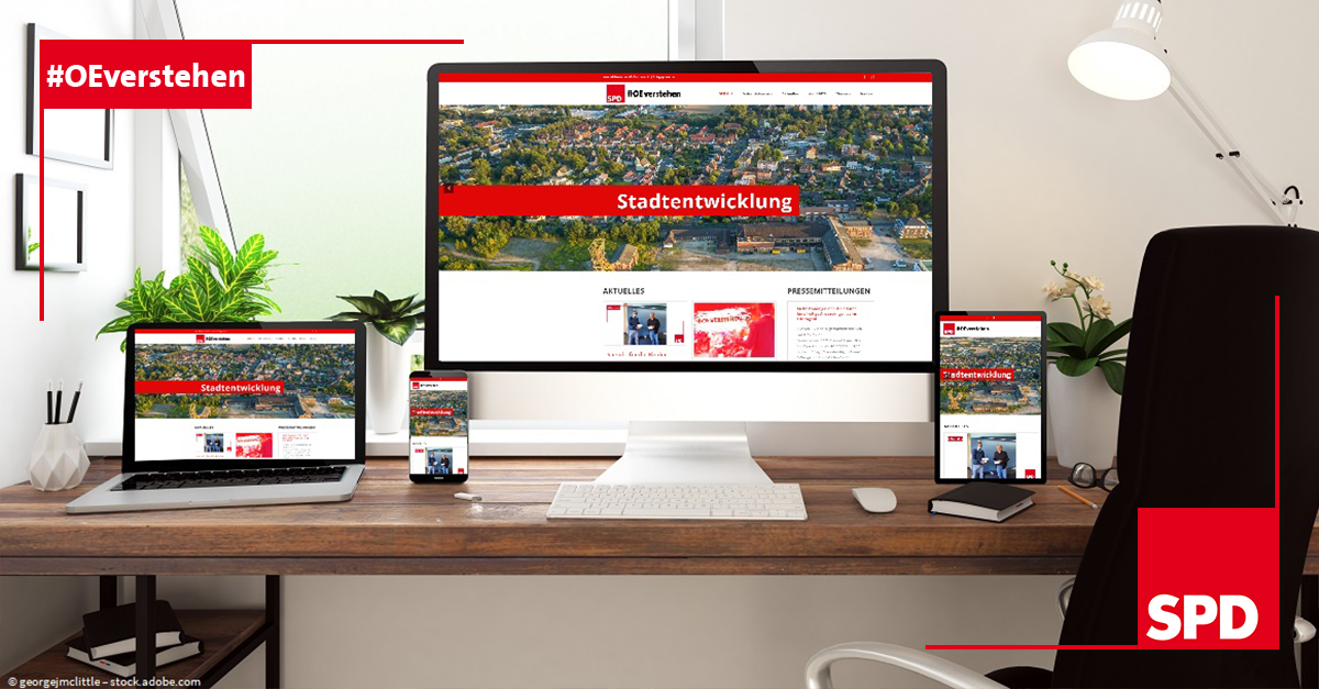 Ansichten der neuen Webseite der SPD Oer-Erkenschwick