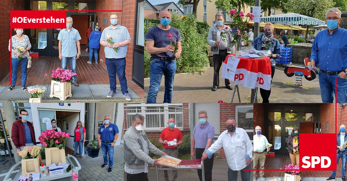 Fotocollage Muttertagsaktion SPD Oer-Erkenschwick trotz Corona