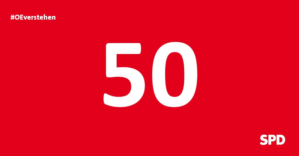Grafik Countdown noch 50 Tage bis zur Kommunalwahl 2020 in Oer-Erkenschwick