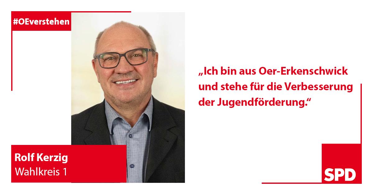 SPD Foto Wahlkandidat Rolf Kerzig für Wahlkreis 1 in Oer-Erkenschwick