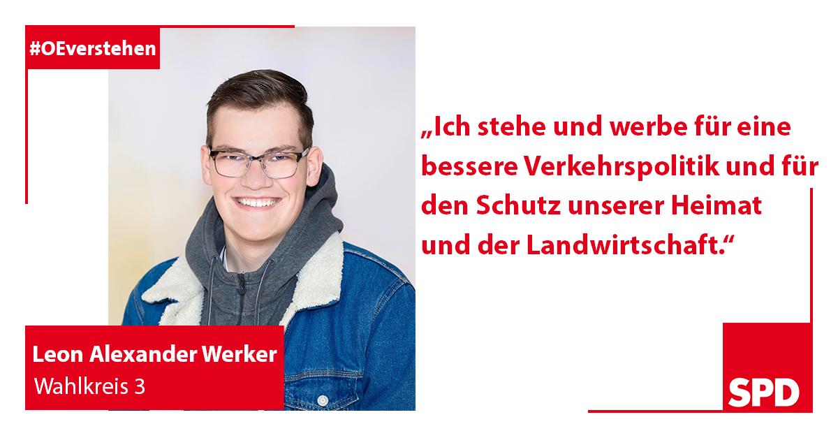 Foto Wahlkandidat Leon Alexander Werker für Wahlkreis 3 in Oer-Erkenschwick