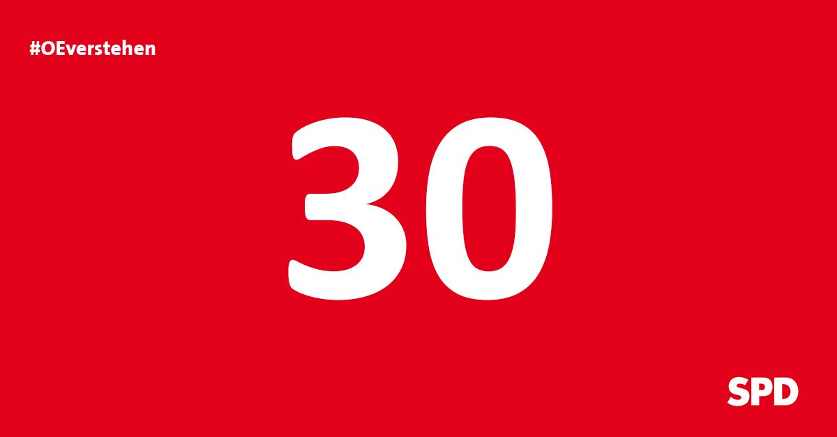 Grafik Countdown noch 30 Tage bis zur Kommunalwahl 2020 in Oer-Erkenschwick