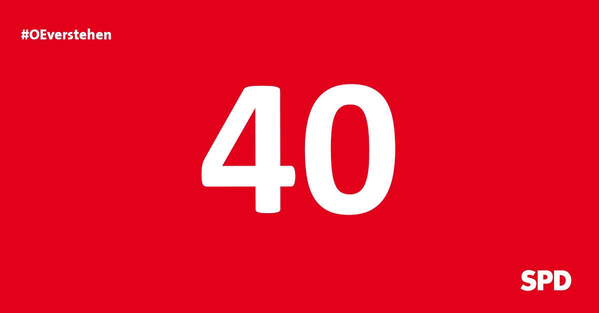 Grafik Countdown noch 40 Tage bis zur Kommunalwahl 2020 in Oer-Erkenschwick
