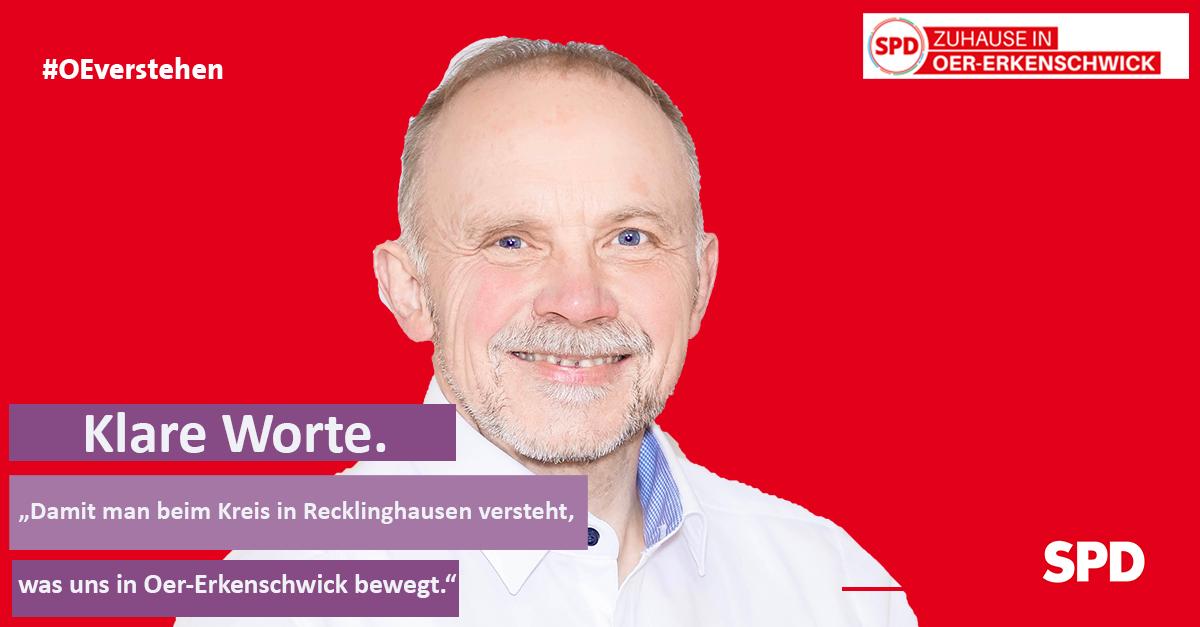 Foto Peter Duscha für den Kreiswahlreis 27 als Stimme für Oer-Erkenschwick