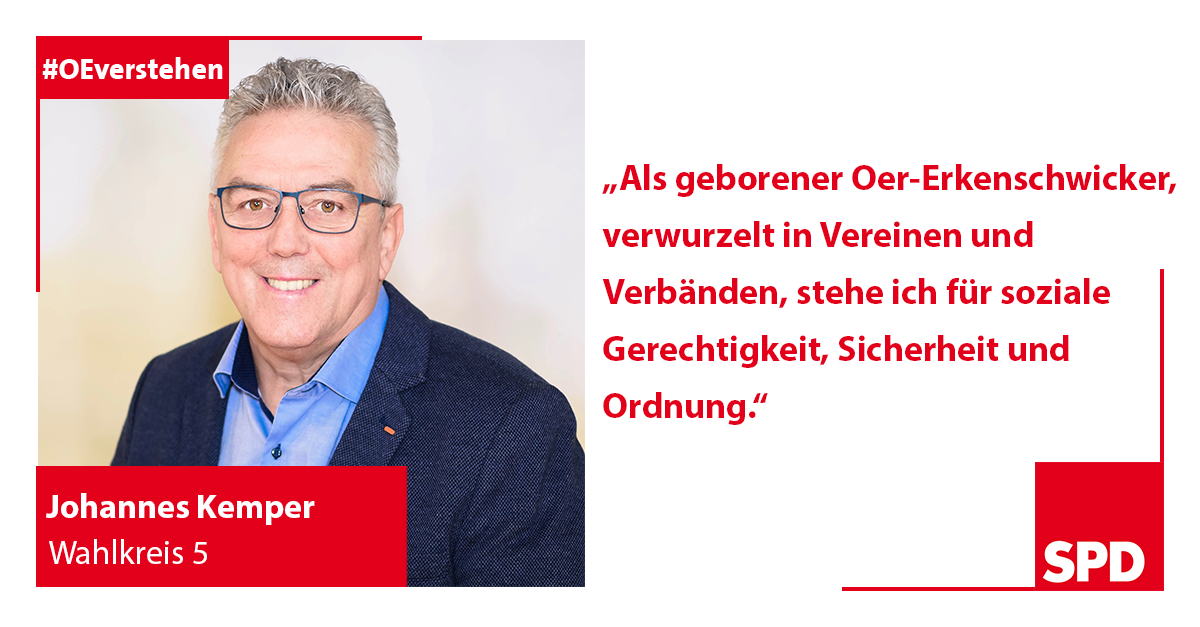 Foto SPD Wahlkandidat Johannes Kemper für Wahlkreis 5 in Oer-Erkenschwick