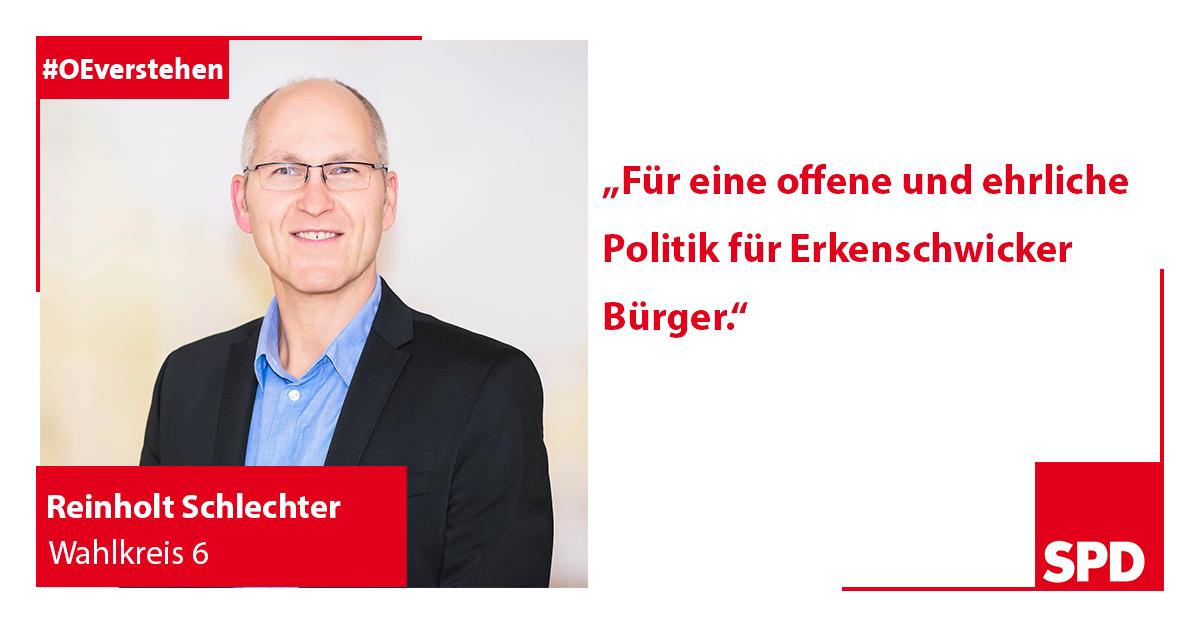 Foto SPD Wahlkandidat Reinholt Schlechter für Wahlkreis 6 in Oer-Erkenschwick