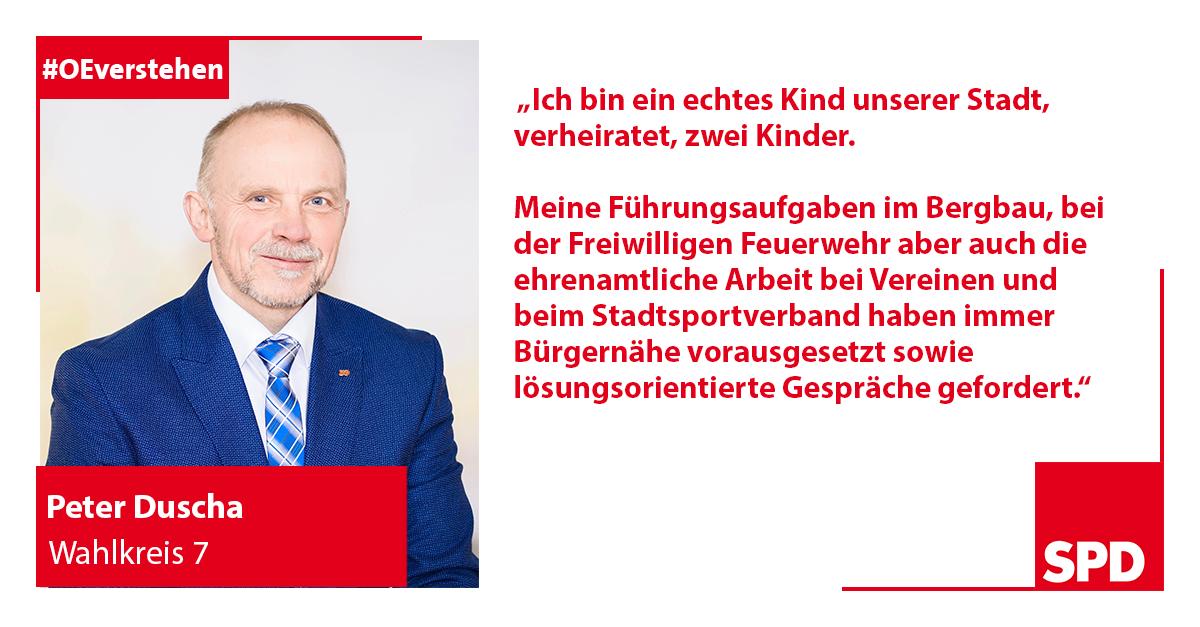 Foto SPD Wahlkandidat Peter Duscha für Wahlkreis 7 in Oer-Erkenschwick