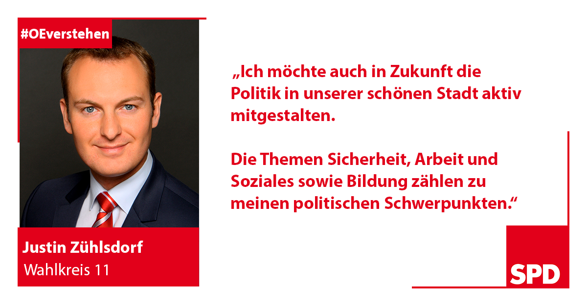 Foto SPD Wahlkandidat Justin Zühlsdorf für Wahlkreis 11 in Oer-Erkenschwick