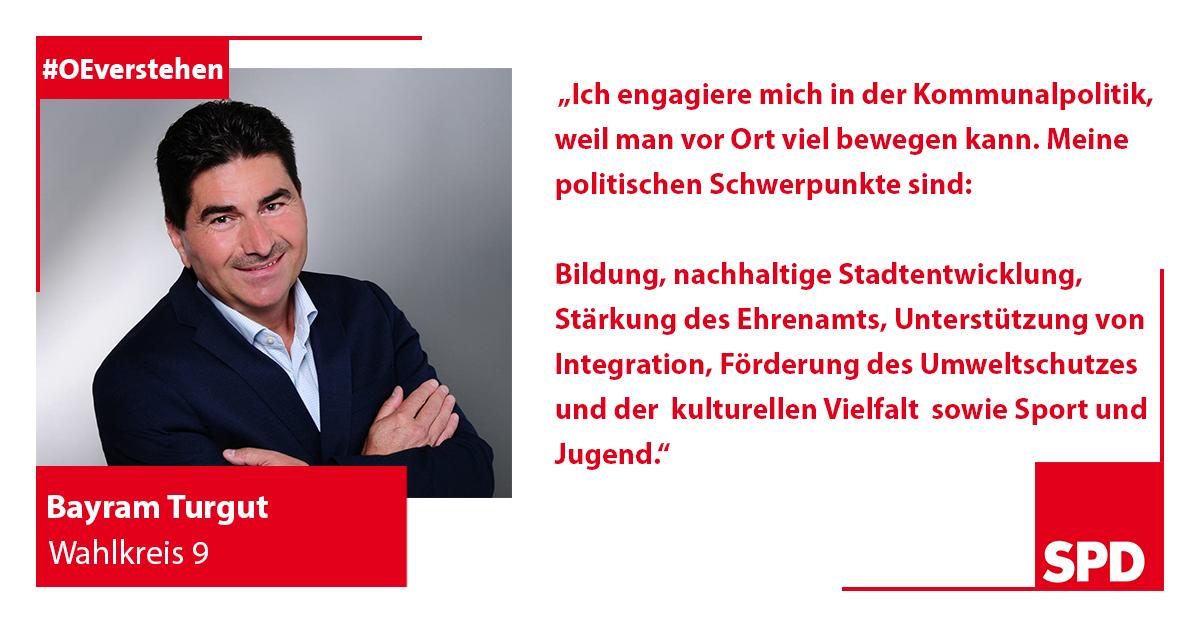 Foto SPD Wahlkandidat Bayram Turgut für Wahlkreis 9 in Oer-Erkenschwick