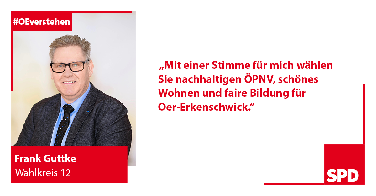 Foto SPD Wahlkandidat Frank Guttke für Wahlkreis 12 in Oer-Erkenschwick