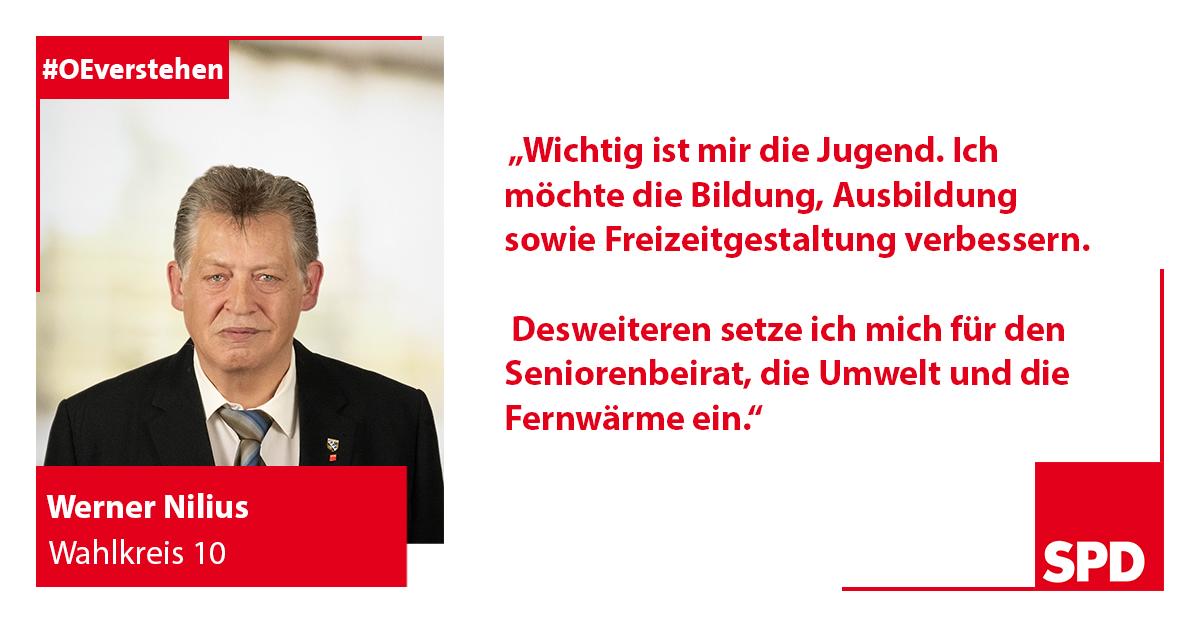 Foto SPD Wahlkandidat Werner Nilius für Wahlkreis 10 in Oer-Erkenschwick