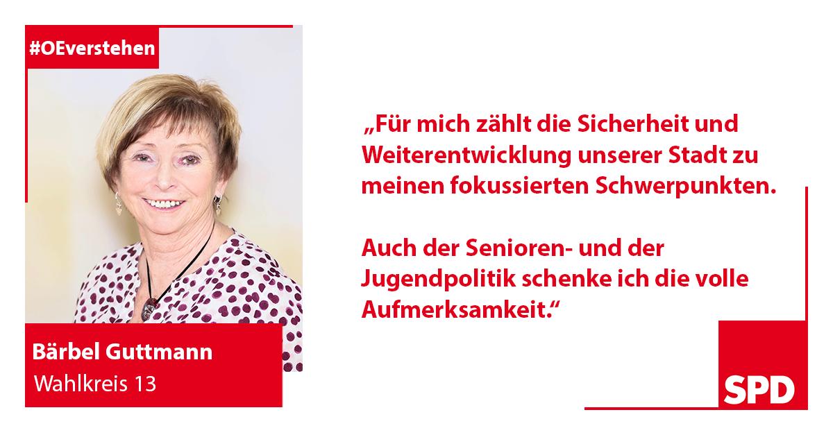 Foto SPD Wahlkandidat Bärbel Guttmann für Wahlkreis 13 in Oer-Erkenschwick