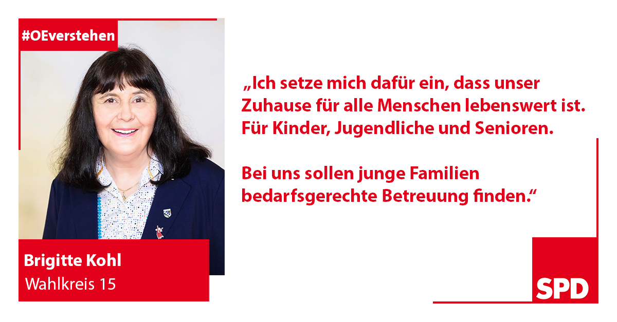 Foto SPD Wahlkandidat Brigitte Kohl für Wahlkreis 15 in Oer-Erkenschwick