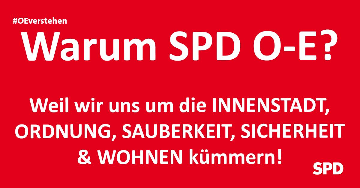 Grafik zu den Gründen die SPD Oer-erkenschwick bei der Kommunalwahl in Oer-Erkenschwick zu wählen, so zB. wg. der Themen zu Innenstadt, Ordnung und Sicherheit