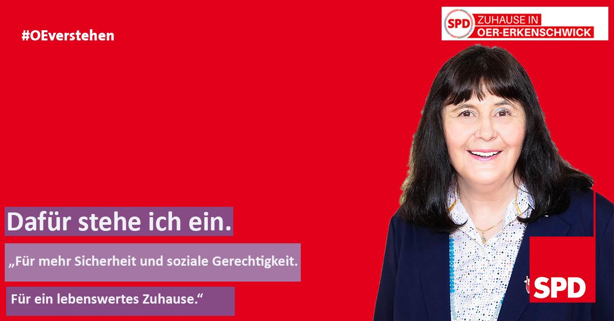Foto Brigitte Kohl für den Kreiswahlreis 28 als Stimme für Oer-Erkenschwick