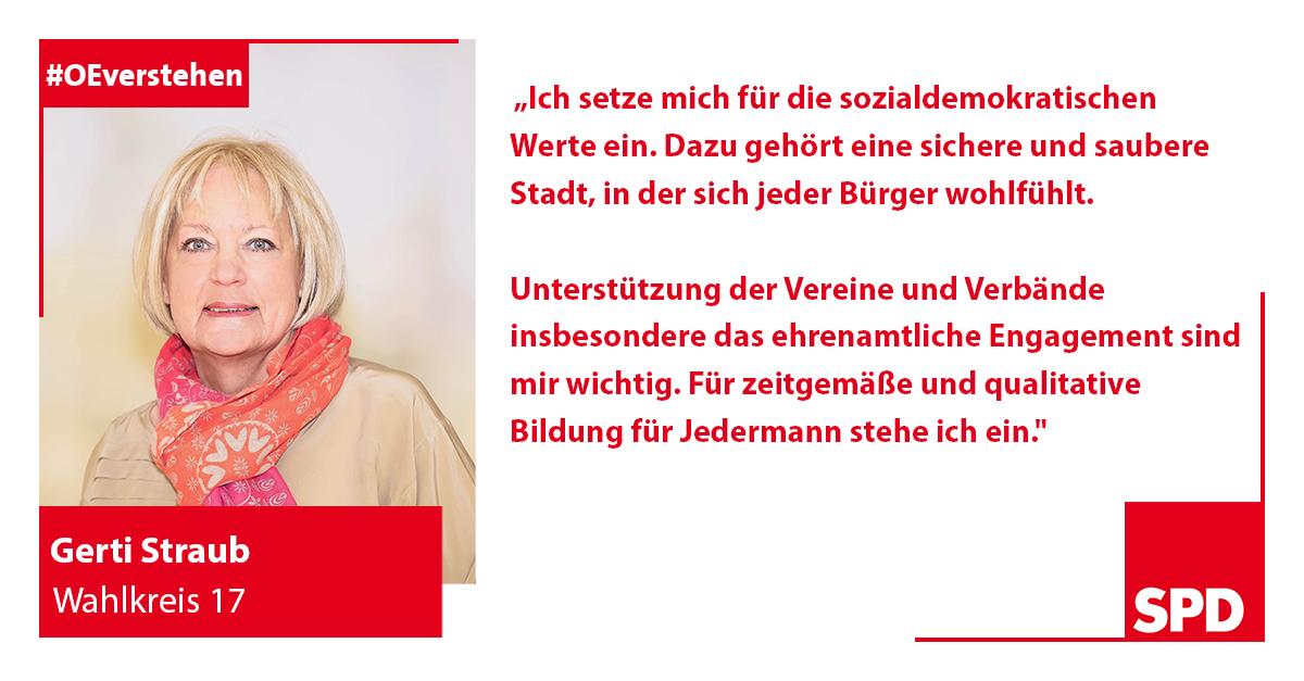Foto SPD Wahlkandidatin Gerti Straub für Wahlkreis 17 in Oer-Erkenschwick