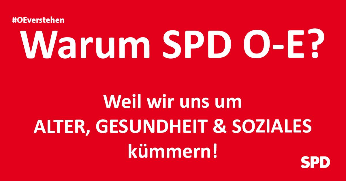 Grafik zu den Gründen die SPD Oer-erkenschwick bei der Kommunalwahl in Oer-Erkenschwick zu wählen, so zB. wg. der ThemenAlter, Gesundheit und Soziales