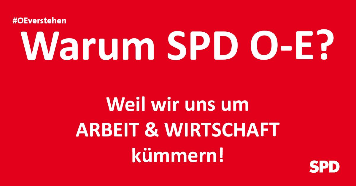 Grafik zu den Gründen die SPD Oer-erkenschwick bei der Kommunalwahl in Oer-Erkenschwick zu wählen, so zB. wg. der Themen Arbeit und Wirtschaft