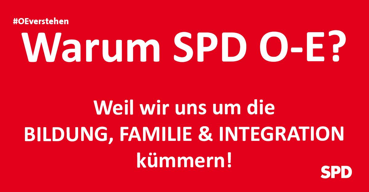 Grafik zu den Gründen die SPD Oer-erkenschwick bei der Kommunalwahl in Oer-Erkenschwick zu wählen, so zB. wg. der Themen Bildung, Familie und Integration