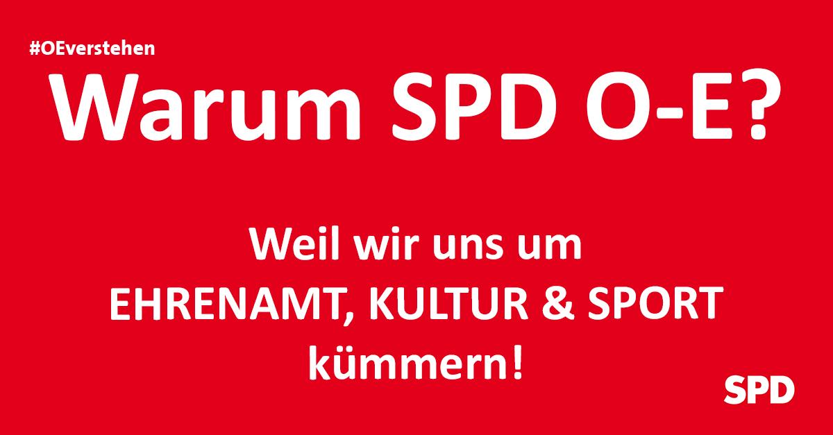 Grafik zu den Gründen die SPD Oer-erkenschwick bei der Kommunalwahl in Oer-Erkenschwick zu wählen, so zB. wg. der Themen Ehrenamt, Kultur und Sport