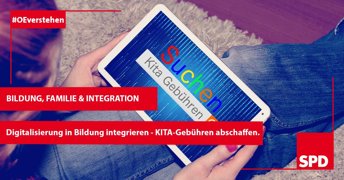 Grafik zur Förderung der Bildung, Familie und Integration mit der SPD in Oer-Erkenschwick