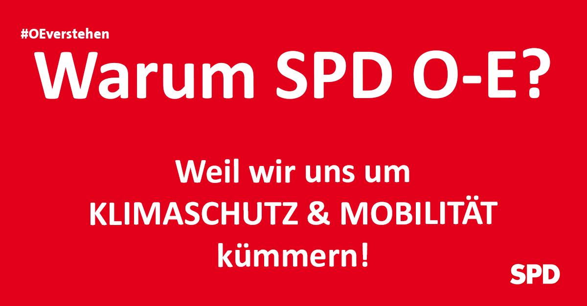 Grafik zu den Gründen die SPD Oer-erkenschwick bei der Kommunalwahl in Oer-Erkenschwick zu wählen, so zB. wg. der Themen Klimaschutz und Mobilität