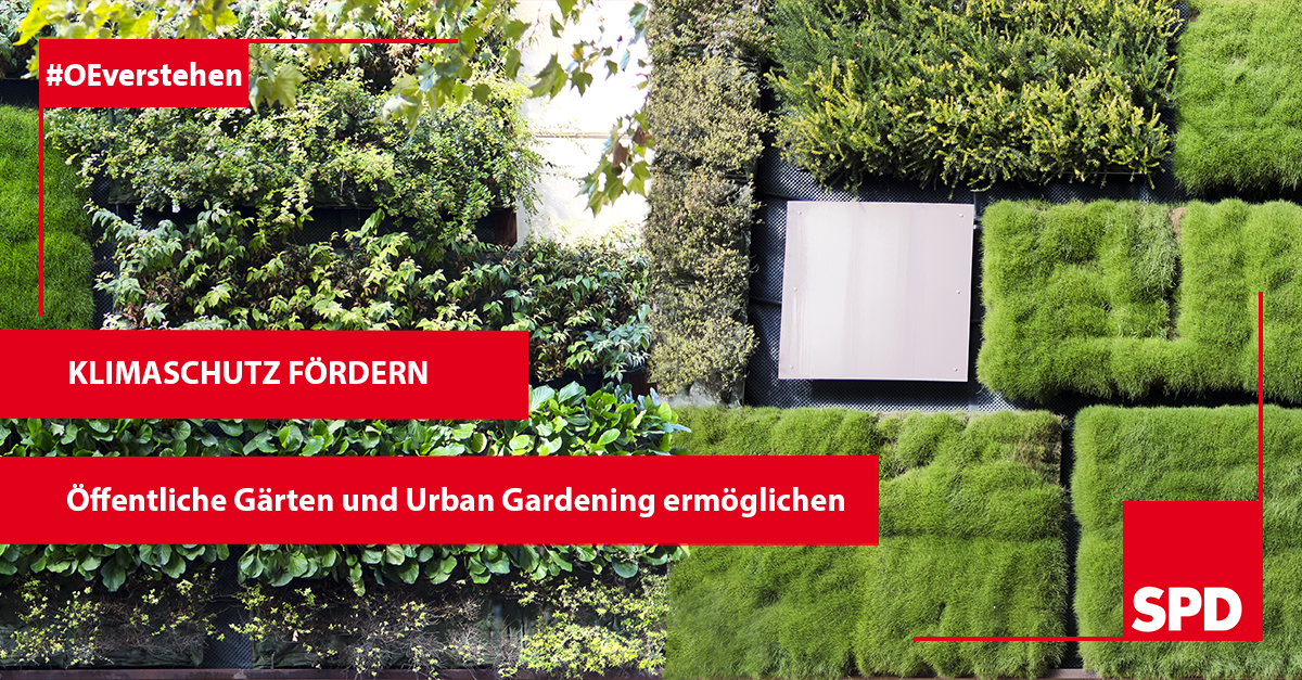 Grafik zum Klimaschutz mit der SPD in Oer-Erkenschwick
