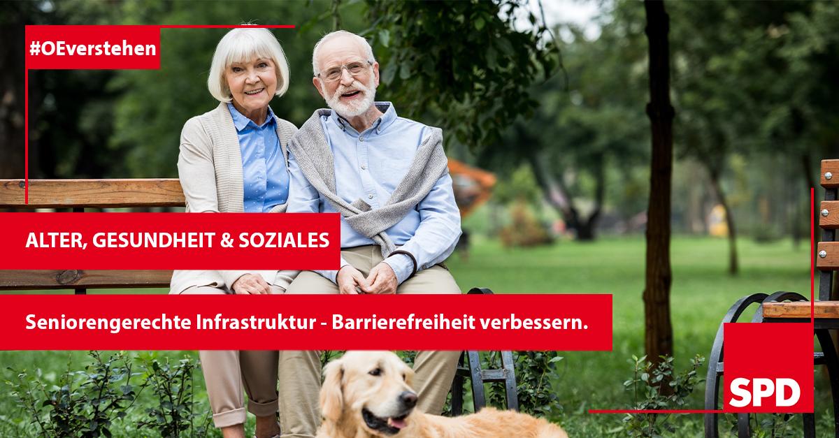 Grafik zum Wahlprogramm der SPD in Oer-Erkenschwick zu Alter, Gesundheit und Soziales