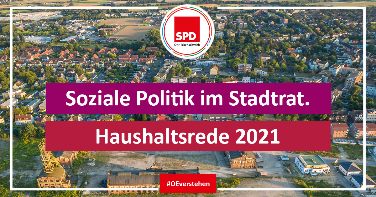 Haushaltsrede 2021 der SPD-Fraktion im Stadtrat Oer-Erkenschwick