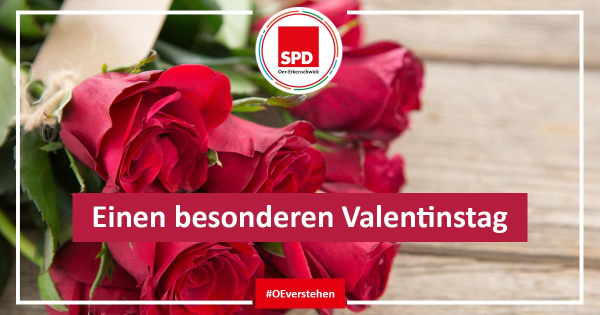 Blumengruß zum Valentinstag 2021 der SPD Oer-Erkenschwick