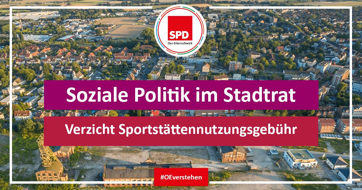 Ratsantrag SPD Oer-erkenschwick auf Verzicht Sportstättennutzungsgebühr für Sportvereine