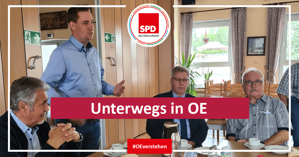 Brian Nickholz von der SPD unterwegs in Oer-Erkenschwick