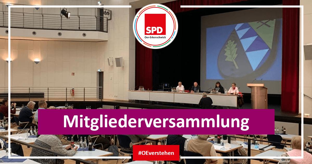 Mitgliederversammlung der SPD Oer-Erkenschwick