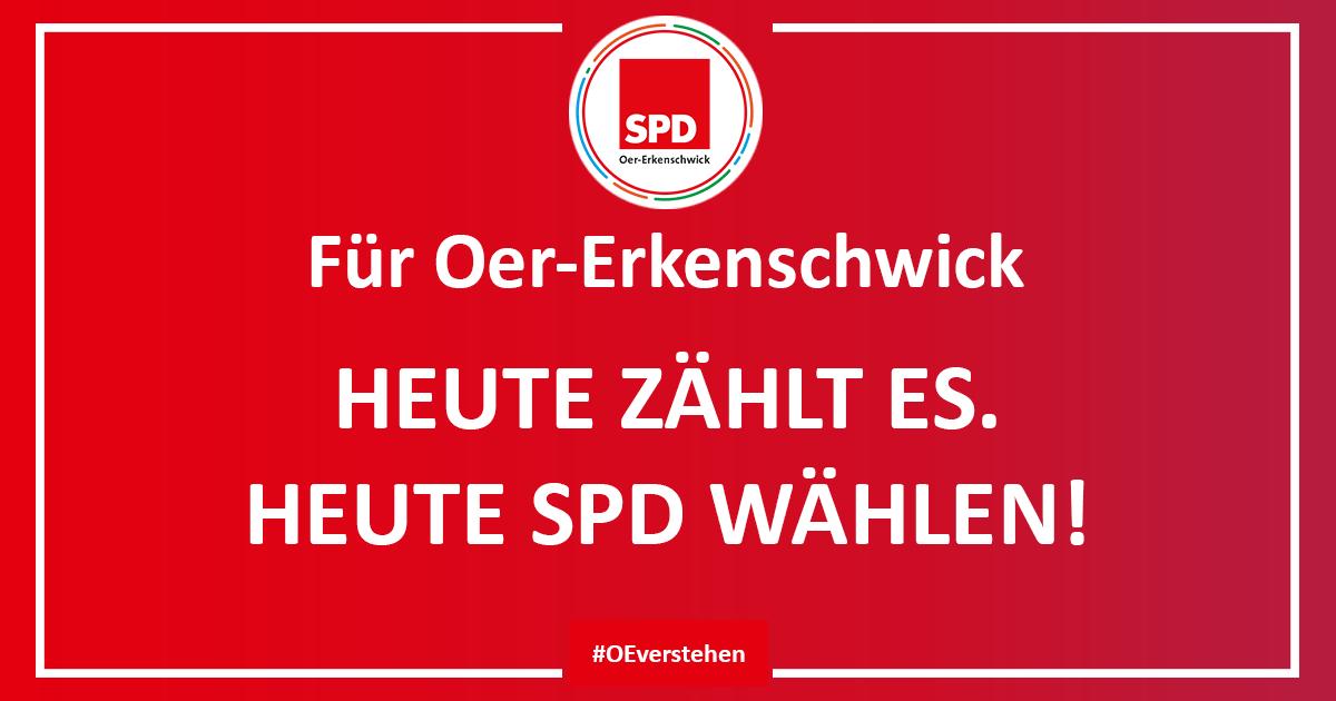 Heute SPD wählen gehen